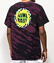 Santa Cruz Slime Balls Dorkus camiseta tie dye negra y rosa