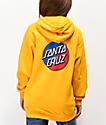 Santa Cruz Split Dot sudadera con capucha dorada