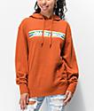 Santa Cruz Stripe Strip sudadera con capucha naranja