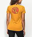 Santa Cruz Two Handled camiseta dorada