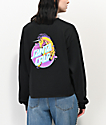 Santa Cruz Unicorn Dot Black Crop Long Sleeve T-Shirt