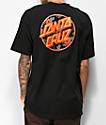 Santa Cruz Vacation Dot camiseta negra
