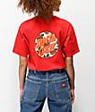 Santa Cruz Vacation Dot camiseta roja
