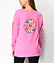 Santa Cruz Vacation Dot camiseta rosa fucsia de manga larga