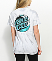 Santa Cruz Wave Do camiseta tie dye gris