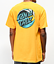 Santa Cruz Wave Dot camiseta dorada
