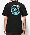 Santa Cruz Wave Dot camiseta negra
