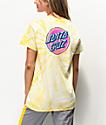 Santa Cruz Wiggle Dot camiseta tie dye amarilla