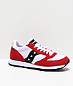 Saucony Jazz Original Vintage Red, White & Black Shoes