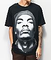 Snoop Close Up Beanie camiseta negra