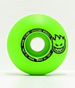 Spitfire Scorchers 53mm 99a Green & Black Skateboard Wheels