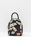 Sprayground Money Leopard mini mochila negra
