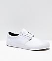 State Elgin Bone White Canvas Skate Shoes