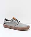 State Elgin Grey & Gum Canvas Skate Shoes
