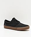 State Elgin zapatos de skate de lienzo negro y goma