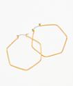 """Stone + Locket 2.25"""" pendientes de aro hexagonales"""