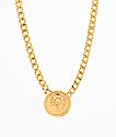 Stone + Locket collar con medallón de león