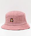 Teddy Fresh Corduroy Pink Bucket Hat