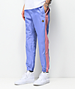 Teddy Fresh Periwinkle Blue & Pink Nylon Track Pants