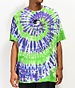 Teddy Fresh Yin Yang Ted camiseta tie dye verde y morada