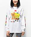 Teddy Fresh x SpongeBob SquarePants Bear Hug White Long Sleeve T-Shirt