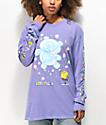 Teddy Fresh x SpongeBob SquarePants Bubbles Purple Long Sleeve T-Shirt