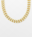 """The Gold Gods 10mm Diamond Miami Cuban 18"""" Yellow Gold Chain Necklace"""