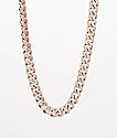 """The Gold Gods 10mm Miami collar de cadena de 18"""" en 2 tonos con diamantes"""