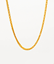 "The Gold Gods 22"" Franco Box collar de cadena de oro amarillo"