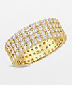 The Gold Gods 4 Row Eternity Ring