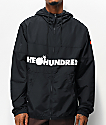 The Hundreds Port Black Windbreaker Jacket