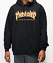 Thrasher Flame Logo Black Hoodie