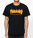 Thrasher Flame Logo Black T-Shirt