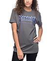 Thrasher Flame Logo camiseta gris