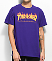 Thrasher Flame Logo camiseta morada