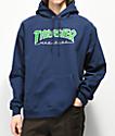 Thrasher Outlined Logo sudadera con capucha azul marino