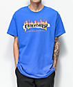 Thrasher Ripped camiseta azul