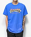 Thrasher Ripped camiseta azul