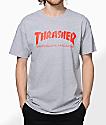 Thrasher Skate Mag Grey & Red T-Shirt
