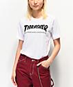 Thrasher Skate Mag White Boyfriend Fit T-Shirt