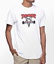 Thrasher Two Tone Skategoat White T-Shirt