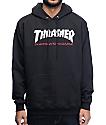 Thrasher Two Tone sudadera negra con capucha
