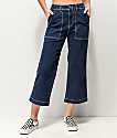 Unionbay Donni Wide Leg High Rise Cropped Jeans
