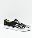Vans Authentic Checkerboard Flame zapatos de skate en negro y blanco