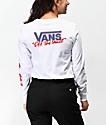 Vans BMX camiseta de manga larga en rojo, blanco y azul