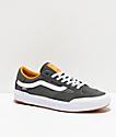 Vans Berle Pro Pewter & Mango Mojito Suede Skate Shoes