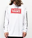 Vans Box Vee Racing camiseta blanca de manga larga