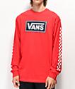 Vans Box Vee Racing camiseta roja de manga larga