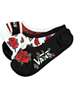 Vans Canoodle Red Roses 3 Pack No Show Socks