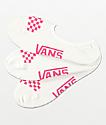 Vans Canoodle paquete de 3 calcetines invisibles blancos y rosas